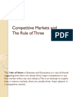 Competitive Markets and Rule of Three