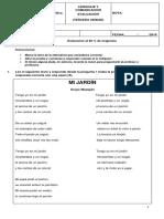 Prueba de Lenguaje y Comunicación. Unidad 3.