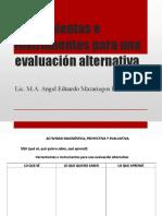 Evaluación alternativa.