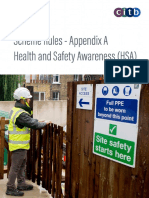 Appendix a - Health and Safety Awareness (Hsa)1