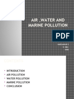 Air Water and Marine Pollution