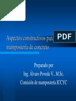 Aspectos Constructivos Para Mampostería de Concreto