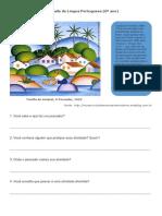 Atividade de Língua Portuguesa Pescadores