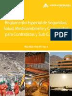Reglamento Especial de Seguridad, Salud, Medio Ambiente y Comunidad Para Empresas Contratistas y Sub-contratistas