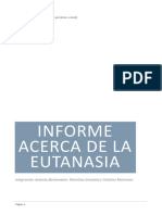 INFORME Acerca de La Eutanasia