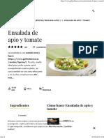 Ensalada de Apio y Tomate - Gallina Blanca