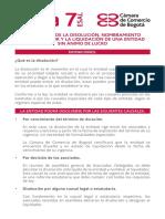 Guia 7 Esal Inscripcion de La Disolucion y La Liquidacion de Una Esal