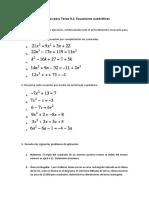 Ejercicios para Tarea 9.1 Ecuaciones cuadr�ticas.docx