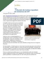 ConJur - Presidentes de TJs Repudiam Investigações de Ministros Do STF
