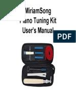 Miriamsong Piano Turning Kit Guidebook Newest