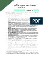 Didactics Summary