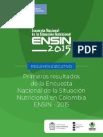 Resumen Ejecutivo ENSIN 2015