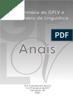 Anais do 7º Seminário do GPLV e 2º Seminário de Linguística