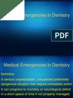 Medical Emergenceies in Dental Practice