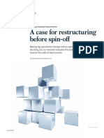 A Case for Restructuring Before Spin Off