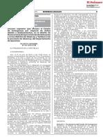 DECRETO SUPREMO N° 141-2019-PCM