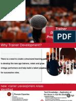 Trainer Development Plan