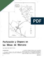 PERFORACIÓN Y DISPARO EN LAS MINAS DE MARCONA