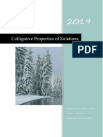 Instructional Material of Colligative Properties of Solutions