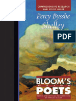 Percy Bysshe Shelley Comprehensive Research and Study Guide (Bloom's Major Poets)