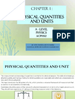 Physical Quantities and Units AS