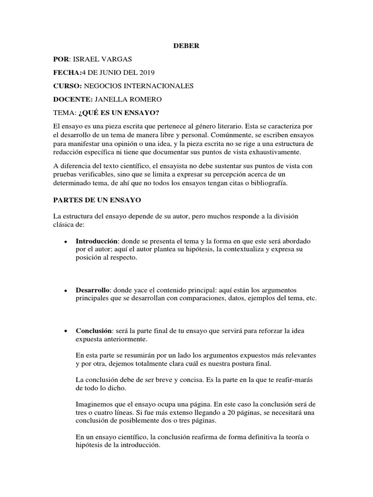 Ensayo Essays Academic Discipline Interactions