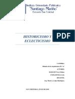 HISTORICISMO Y ECLECTICISMO