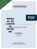 Manual de Control Interno Sst