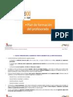 Plan de Formacion TIC del profesorado_RED XXI