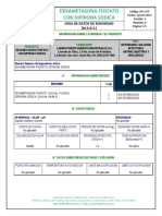 Dexametasona Con Dipirona Fosfato Sodica