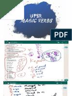 Upsr Magic Verbs