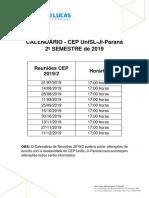 Calendario CEP