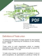 Presentation on Trade Union