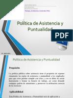 Presentación Politca de Assitencia y Puntualidad