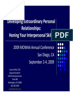 Developing Extraordinary Personal Relationships