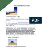 Las Primeras Pirámides Monumentales