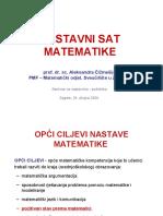 Nastavni Sat Mate Ma Tike