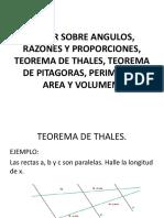 Teoremas y razones
