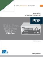 IRU Pro UOR Catalogue