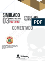 3º Simulado - Pós-Edital - AGENTE - Gabarito Comentado