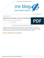 Healthcare Consulting_ a Door to the Business of Life Sciences