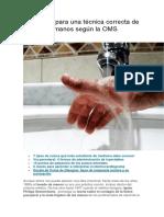Los Pasos Para Una Técnica Correcta de Lavado de Manos Según La OMS