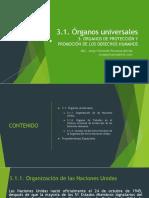 3.1. Organos Universales