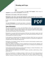 2. Biochemistry- Meaning & Scope