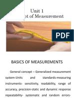 Basics of Measurement