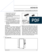 datasheet  HCF4017B simulador de ECG