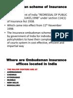 Ombudsman Scheme of Insurance