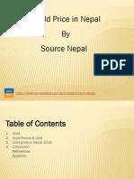Gold Price in Nepal