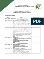 Jadwal Acara Symposia Diesnatalis