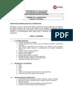 Carta Descriptiva Anatomia y Fisiología I ciclo 20-1